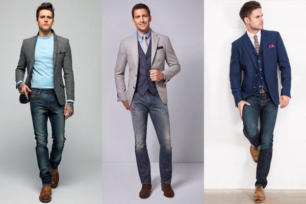 Áo sơ mi, vest, áo thun là những loại áo thích hợp nhất khi được mix chung với quần jeans.