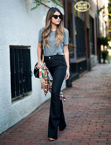 Jeans ống loe mốt một thời được cả Sao Holywood yêu thích