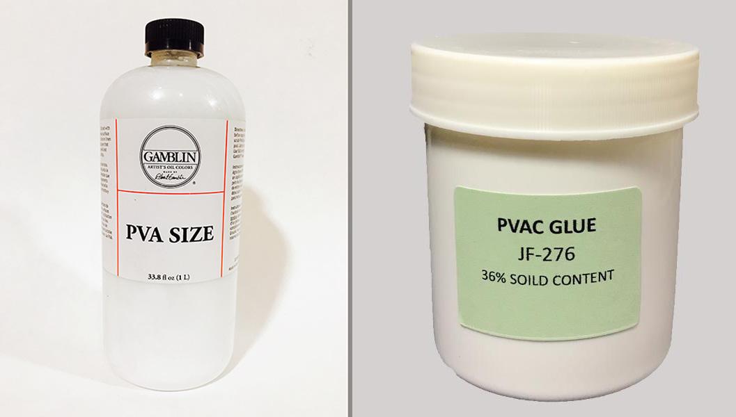 PVA-PVAC là chất keo sử dụng để hồ sợi thường được sử dụng cho các loại vải tổng hợp