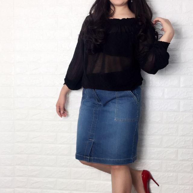 Chân vấy jean big size dành cho các bạn nữ có thân hình tròn 60 - 65kg
