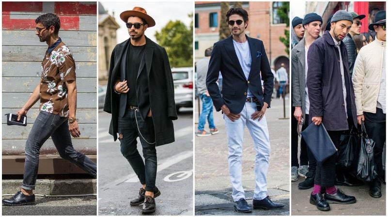 Jeans kết hợp với giầy brogue tạo sức hút Nam tính mạnh mẽ cho người mặc