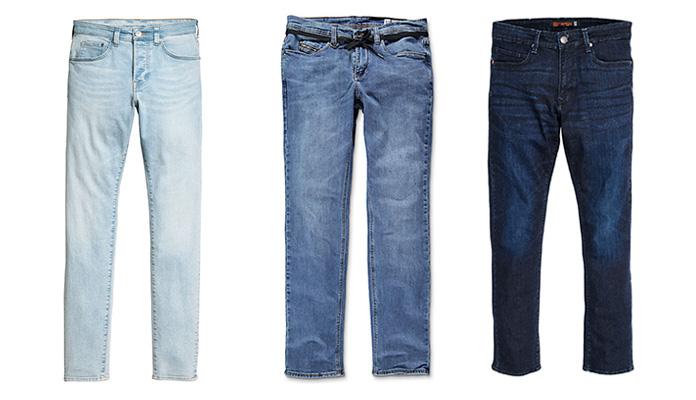 Light/Medium/Dark blue jeans được tạo ra sau quá trình wash!