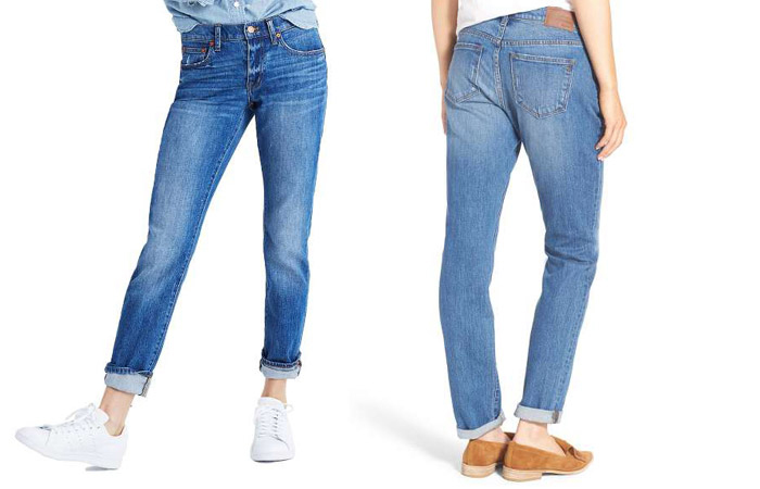 Boyfriend Jeans -  Quần jeans được may cho nữ mặc những kiểu dáng gần giống như nam giới
