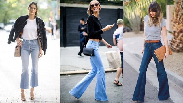 Quần jeans ống loe + giầy cao gót - Giúp người mặc trong cao hơn, dang đi thướt tha duyên dáng hơn