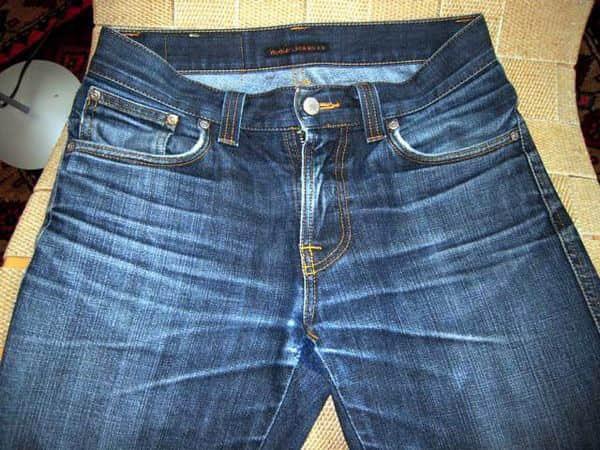 Quần jeans với hiệu ứng râu ria - whiskers jeans