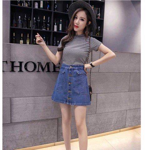 Chân váy jeans là kiểu jeans được thiết kế dành cho cac1 bạn nữ yêu thích mặc váy