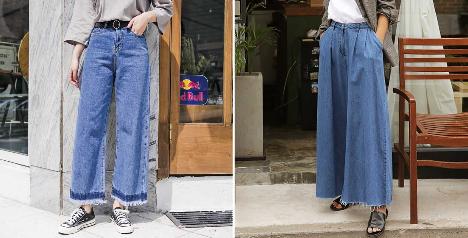 Kiểu thiết kế  của quần jeans ống rộng thưởng chỉ hợp với phái nữ.