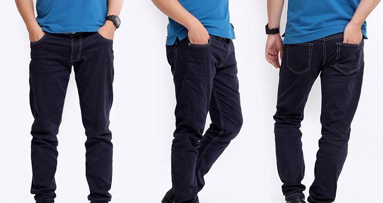 Mẫu quần jeans nam ống côn phong cách