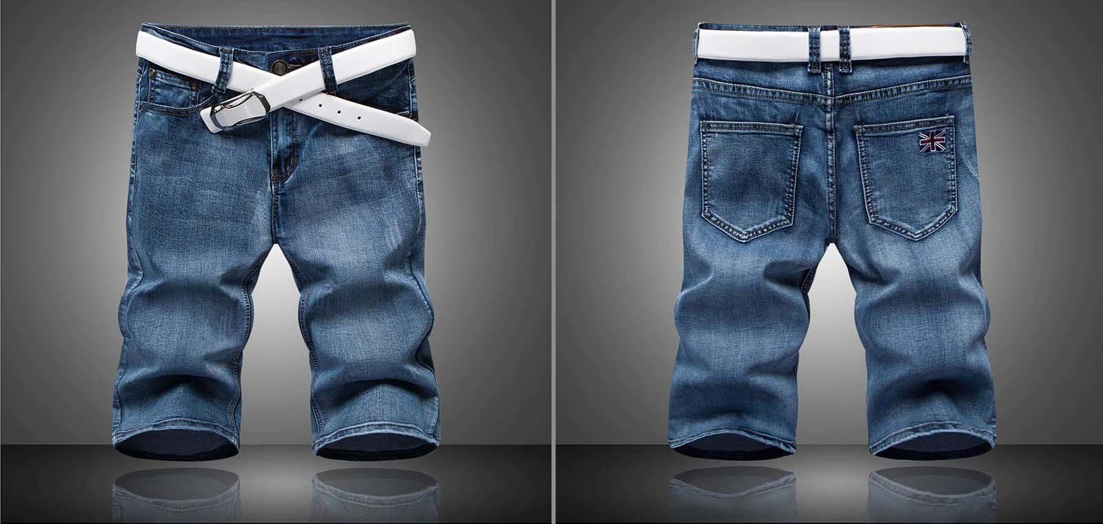 Một mẫu quần short jeans hàng chợ! Khách gửi mẫu cho DOSI  yêu cầu may gia công theo mẫu