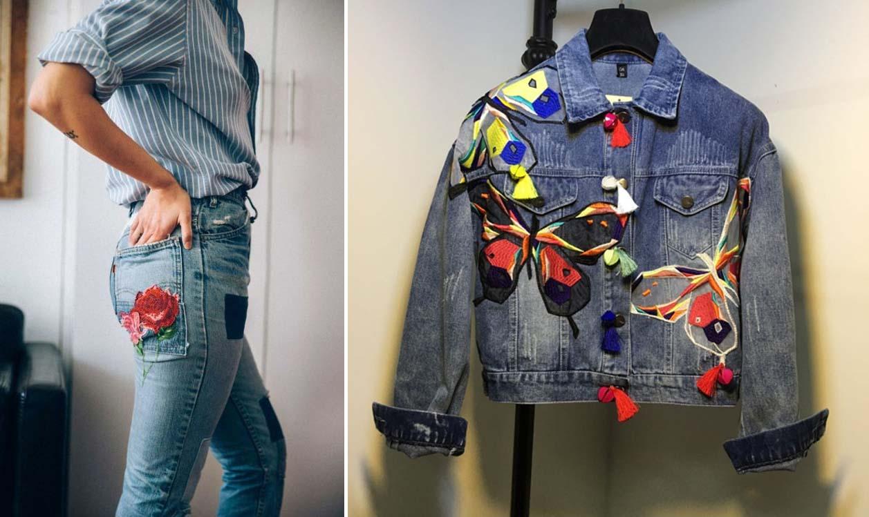Quần áo chất liệu denim (jeans) được thêu nhiều họa tiết cực đẹp đang cuốn hút giới trẻ khắp nơi