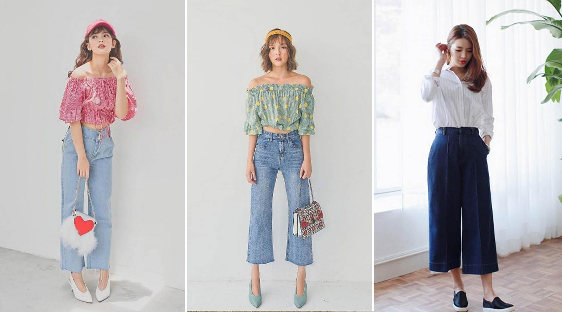 Quần jeans ống rộng xu hướng jean mới nổi trong giới trẻ. Việt Nam