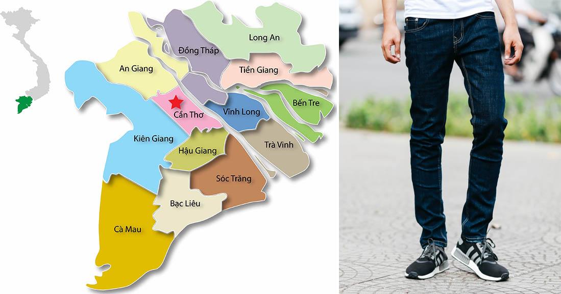 Quần Rin là  từ việt hóa để chỉ quần Jeans được các tỉnh miền tây sử dụng rộng rải!