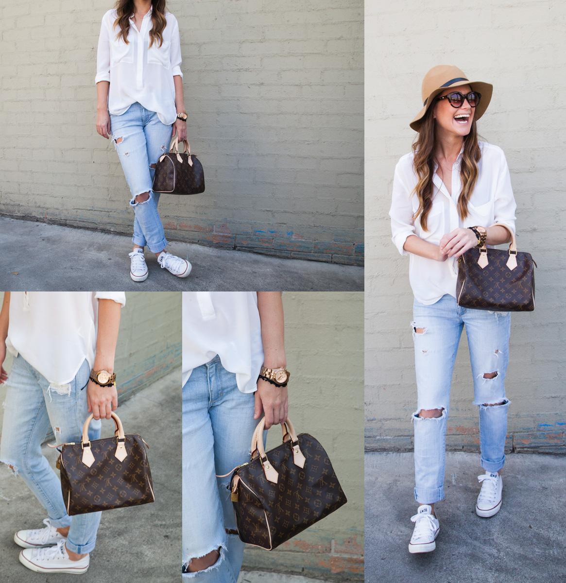 Set đồ quần jean boyfriend dành cho các nữ yêu thích du lịch