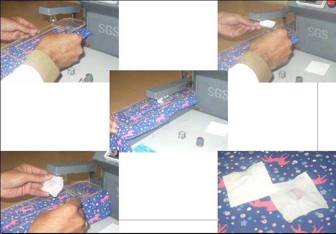 Tổng hợp các bước thực hiện phương pháp kiểm tra độ bền màu ma sát khô.