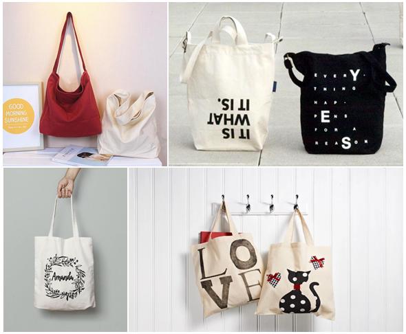Một số mẫu túi xách được làm bằng vải Cotton Canvas