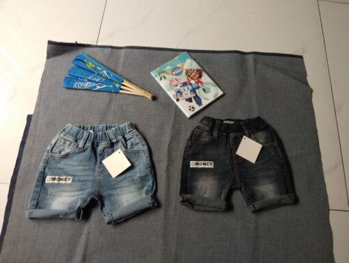 Quần short jean trẻ em wash xước và thêu (Đã Xuất Xưởng) 3