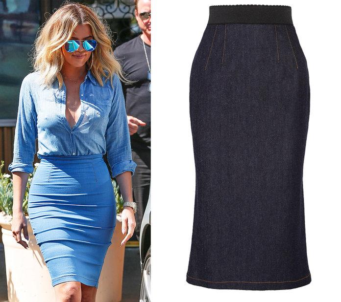 Váy jean bút chì là loại váy jeans được thiết kế nhầm tôn lên vẻ đẹp quyến rũ của phái nữ