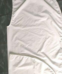 Áo Choàng Cắt Tóc SPA Nút Bấm Khoen Sắt Màu Trắng! 11