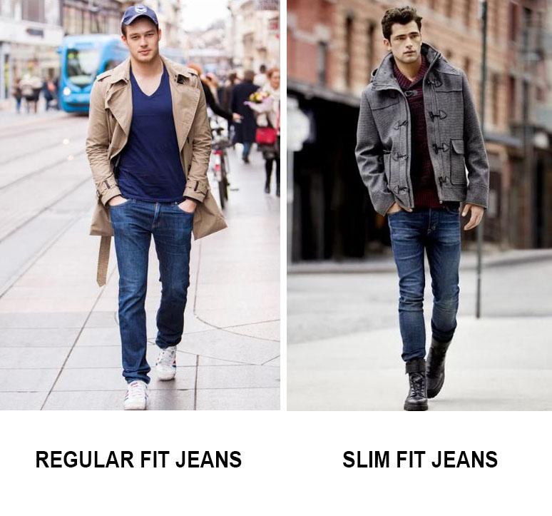 Sự khách biệt của regular fit jeans và slim fit jeans là nằm ở chỗ thiết kế và độ co giãn của vải.