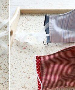 Khẩu Trang Vải 3 Lớp Có May Túi Để Sử Dụng Bộ Lọc Riêng. Mẫu Được May Theo Yêu Cầu Của Khách Hàng.