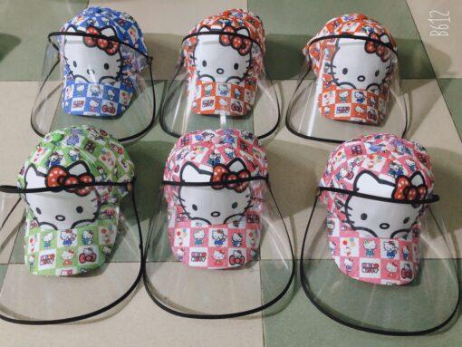 Mũ Chống Dịch Bệnh Dành Cho Trẻ Em Thêu Mèo Hello Kitty. 3