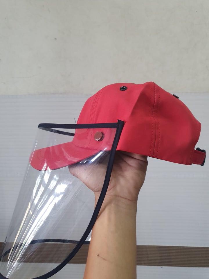 Mũ lưỡi chống giọt bắn dành cho người lớn màu đỏ