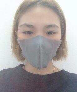 Khẩu Trang Vải Không Dệt 3 Lớp Mẫu 3D Dành Cho Nam & Nữ Chất Lượng Cao Màu Xám 7