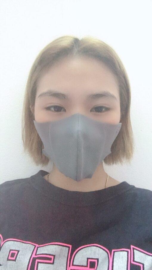 Khẩu Trang Vải Không Dệt 3 Lớp Mẫu 3D Dành Cho Nam & Nữ Chất Lượng Cao Màu Xám 4