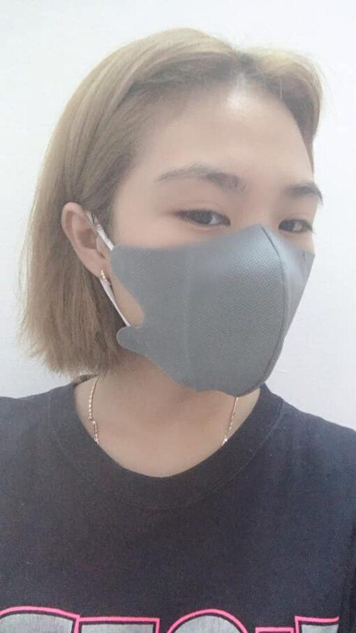 Khẩu Trang Vải Không Dệt 3 Lớp Mẫu 3D Dành Cho Nam & Nữ Chất Lượng Cao Màu Xám 3