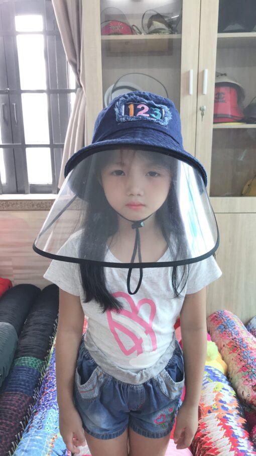 Nón Chống Dịch Chống Bụi Denim Dành Cho Trẻ Em. 3