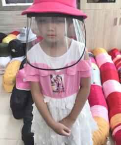 Nón Bảo Vệ Chống Dịch Dành Cho Trẻ Em Hình Pikachu Màu Hồng. 7