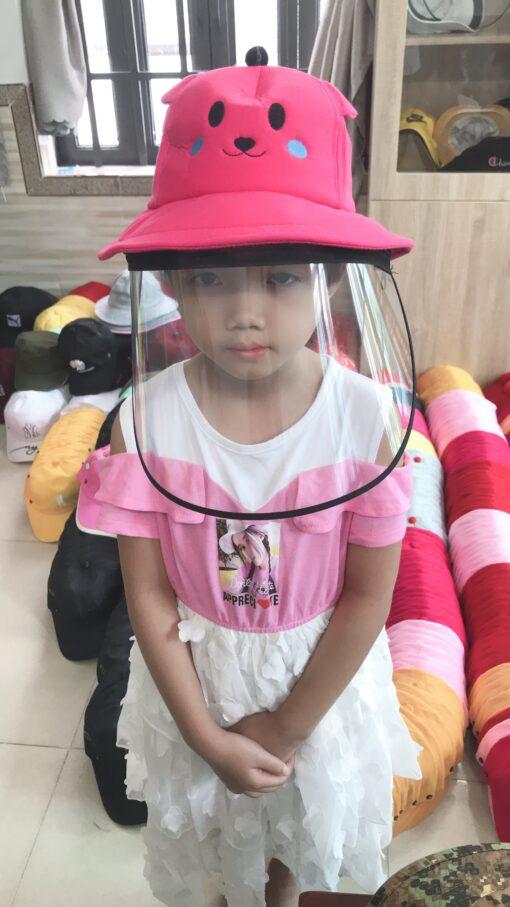 Nón Bảo Vệ Chống Dịch Dành Cho Trẻ Em Hình Pikachu Màu Hồng. 3