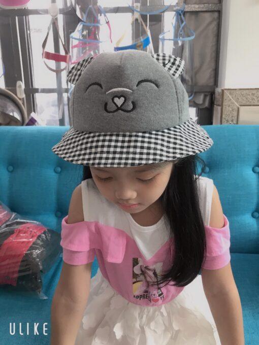 Nón Tai Bèo Có Vành Chống Dịch Dễ Thương Dành Cho Trẻ Em. 3
