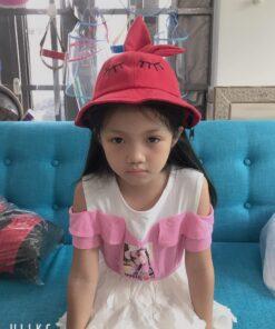 Nón Tai Bèo Có Vành Chống Dịch Dễ Thương Dành Cho Trẻ Em. 6
