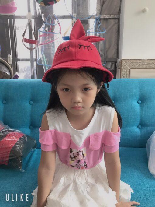 Nón Tai Bèo Có Vành Chống Dịch Dễ Thương Dành Cho Trẻ Em. 4