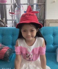 Nón Tai Bèo Có Vành Chống Dịch Dễ Thương Dành Cho Trẻ Em. 7