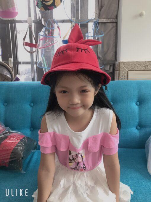 Nón Tai Bèo Có Vành Chống Dịch Dễ Thương Dành Cho Trẻ Em. 5