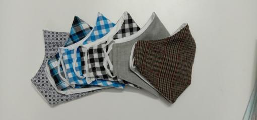 Bộ 6 Mẫu Khẩu Trang Vải Kate Được May Size Phương Tây Mũi Cao Theo Yêu Cầu Đặt Hàng Số Lượng Lớn. 3