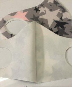 Khẩu Trang Vải Poly 3D Size Lớn Dành Cho Phương Tây, Có Hoa Văn Đẹp! 5