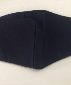 Khẩu Trang Vải 3 Lớp Màu Xanh Đen Mẫu Trơn Có Quai Đeo Bằng Thun. 6