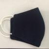 Khẩu Trang Vải 3 Lớp Màu Xanh Đen Mẫu Trơn Có Quai Đeo Bằng Thun. 2