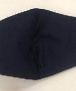 Khẩu Trang Vải 3 Lớp Màu Xanh Đen Mẫu Trơn Có Quai Đeo Bằng Thun. 7