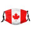 Khẩu Trang Vải Cờ Canada - Loại Khẩu Trang Vải 2 Lớp, Có Dây Đeo Tăng Giảm, Mẫu Khách Gửi. 1