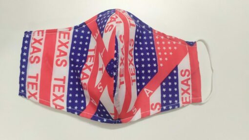 Khẩu Trang Vải In Theo Yêu Cầu - Bang Texas USA Có Quai Đeo Thun Co Giản, Size Xuất Khẩu. 3