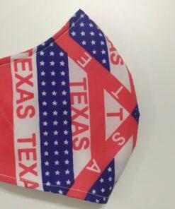 Khẩu Trang Vải In Theo Yêu Cầu - Bang Texas USA Có Quai Đeo Thun Co Giản, Size Xuất Khẩu. 6