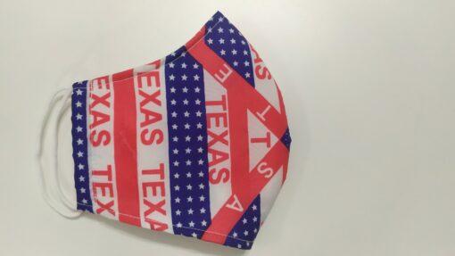 Khẩu Trang Vải In Theo Yêu Cầu - Bang Texas USA Có Quai Đeo Thun Co Giản, Size Xuất Khẩu. 4