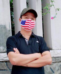 Khẩu Trang Cờ Mỹ America Strong - Khẩu Trang Vải In Hình Cờ Mỹ Được Đặt Hàng Số Lượng Lớn. 11