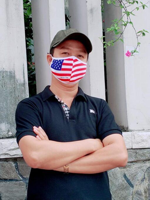 Khẩu Trang Cờ Mỹ America Strong - Khẩu Trang Vải In Hình Cờ Mỹ Được Đặt Hàng Số Lượng Lớn. 7