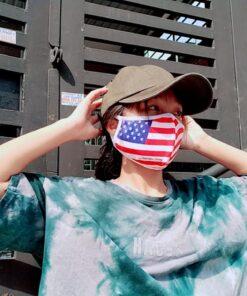 Khẩu Trang Cờ Mỹ America Strong - Khẩu Trang Vải In Hình Cờ Mỹ Được Đặt Hàng Số Lượng Lớn. 10
