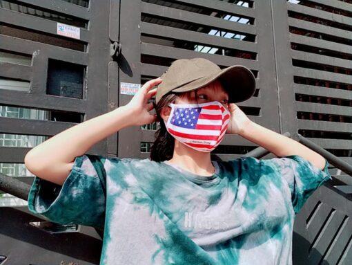 Khẩu Trang Cờ Mỹ America Strong - Khẩu Trang Vải In Hình Cờ Mỹ Được Đặt Hàng Số Lượng Lớn. 6
